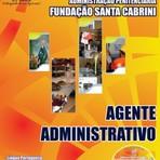Concursos Públicos - Apostila (ATUALIZADA) AGENTE ADMINISTRATIVO - Concurso Fundação Santa Cabrini 2014