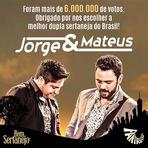 Jorge & Mateus conquistam o primeiro lugar da Batalha dos Sertanejos, promovida pelo Fantástico.