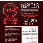 Utilidade Pública - Inscrição aberta para maratona de estudos para Exame da OAB