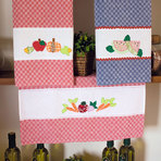 Arquitetura e decoração - Artesanato com retalhos cria panos de prato em patchwork
