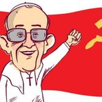 Papa Francisco admira comunistas. Estimula trabalho de entidades comunistas. Mas afirma não ser comunista. Estranho??