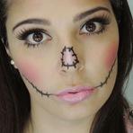 Mulher - Make para Halloween Boneca de Pano #tutorial