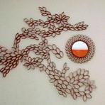 Arquitetura e decoração - Artesanato: faça uma linda moldura de espelho com rolinhos de papelão
