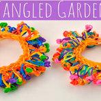 Pulseiras de elásticos jardim colorido