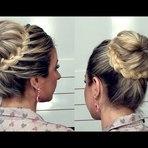 Mulher - Penteado romântico: Coque com trança
