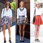 5 opções de looks com camisa branca
