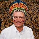 Por seca e chuvas em SP, Governador Alckmin apela para o Cacique Cobra Coral, ou seja, para o demônio