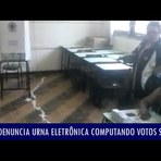 Vídeos denunciam urna eletrônica computando votos sozinha e não aceitando votos para presidente