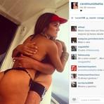 Futura primeira dama da CBF posta foto em lancha com Del Nero de sunga