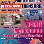 Apostila TRENSURB - Grátis CD-Rom - Agente Metroviário -  Impressa ou Digital - PDF