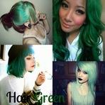 Inspire-se: Cabelo verde