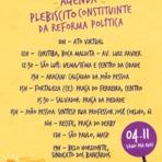 Começou #PlebiscitoOficial: Hoje é dia de mobilização nacional pela reforma política.  Hoje é dia de luta pela Reforma