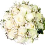 Buquet de rosas brancas, monte o seu