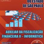 APOSTILA TRIBUNAL DE CONTAS DO ESTADO SP AUXILIAR DA FISCALIZAÇÃO FINANCEIRA I I INFORMÁTICA 2014