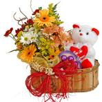 Cesta de flores com chocolate para diabéticos?