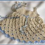 Moda & Beleza - Vestidinho de crochê para Bebês