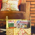 Hobbies - Decoupage em Patchwork em Revisteiro e Almofada