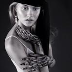 Pintura corporal de esqueleto por Juliana Fischer