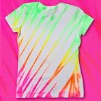 Camisetas de Malha Pintadas Para o Verão