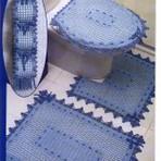 Modelos de tapetes para banheiros de crochê
