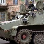Tropas russas estão se derramando na Ucrânia