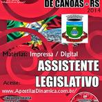 Apostila Impressa Câmara Municipal de Canoas - Assistente Legislativo - Grátis CD-ROM