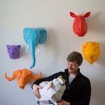 Esculturas de papel de animais para alegrar a sua decoração