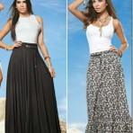 Mulher - Tendência das lindas saias longas para 2015 para voce que adora roupas comportadas