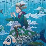 Desenhos surreais, pinturas e murais de Rustam QBIC