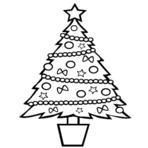 Árvore De Natal Para Colorir!
