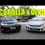 Vídeo: Honda Civic X Toyota Corolla