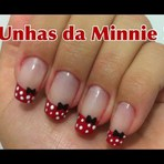 Unhas inspiradas na Minnie!! - Tutorial