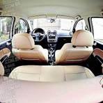 VW Gol G6 com bancos de couro cor bege