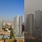 Conheça a cidade de Pequim com poluição e sem poluição!