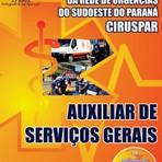 APOSTILA CIRUSPAR AUXILIAR DE SERVIÇOS GERAIS 2014