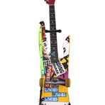 Guitarra feita com um skate.