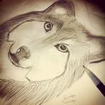 Arte & Cultura - O Lobo #Desenho #Art #wow