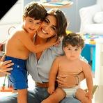 Juliana Paes Grava Comercial com os Filhos