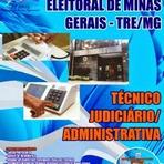 Apostila Tribunal Regional Eleitoral TRE (MG) Belo Horizonte (BH) - Técnico Judiciário - Concurso Público 2014 - 2015