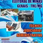 APOSTILA TRE MG TÉCNICO JUDICIÁRIO - ÁREA ADMINISTRATIVA 2014