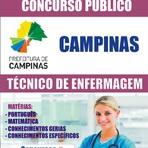 Concursos Públicos - Apostila Concurso Prefeitura de Campinas 2014/2015 - Técnico de Enfermagem
