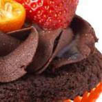 Como fazer cupcake de chocolate e morango