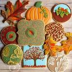 Biscoitos artesanais ornamentados com detalhes impecáveis