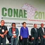 """Dilma: """"A educação é hoje a prioridade número 1 do nosso modelo de crescimento com inclusão social"""""""