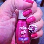 Unhas da semana - Colorama As Super Cores Rosa Incrível e Películas Stylus Beauty por Pabline Torrecilla