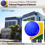 INSCRIÇÕES Concurso Público do TRE-GOIÁS - Edital 2014 - São 14 vagas em cargos de nível médio