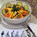 Culinária - Salada Tropical de Salmão Por Chef Henrique Burd