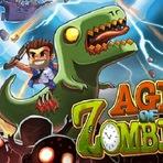 Jogos - Sobreviva a invasões zumbis em Age of Zombies