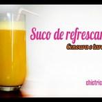 Suco refrescante de cenoura