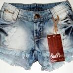 Diversos - Shorts jeans curtos desfiados